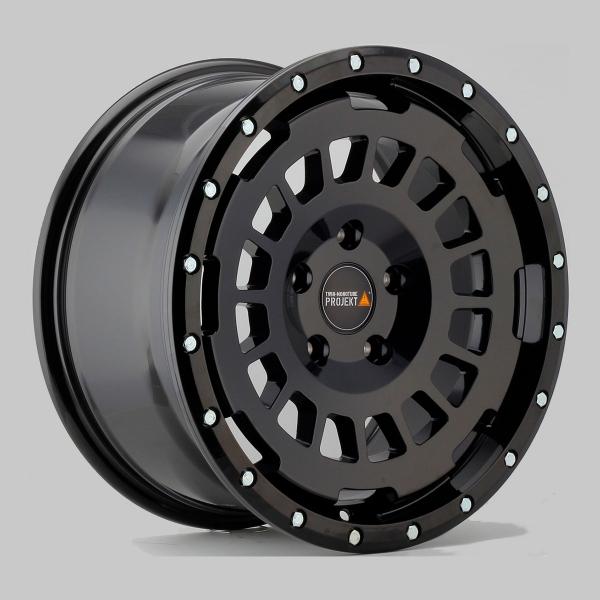 Twin Monotube Projekt AT Alufelge in 8x17 ET40 konkav, seidenmatt schwarz für VW T5